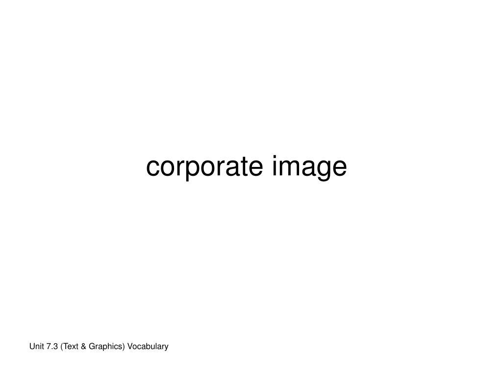 corporate image