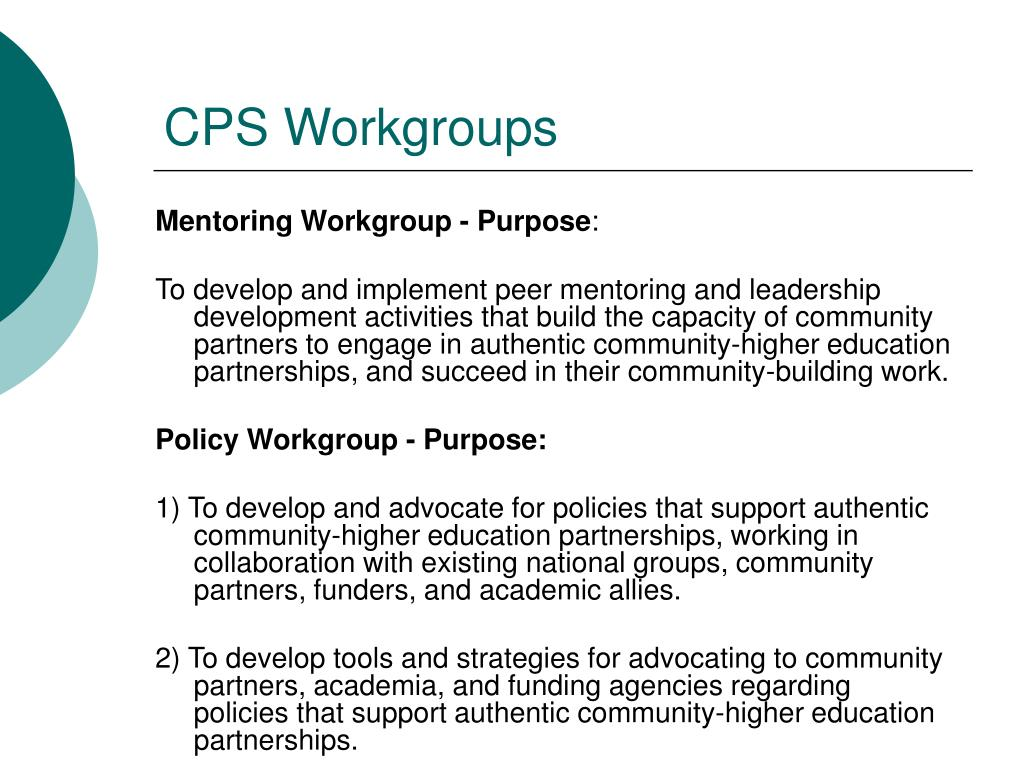 CPS Workgroups