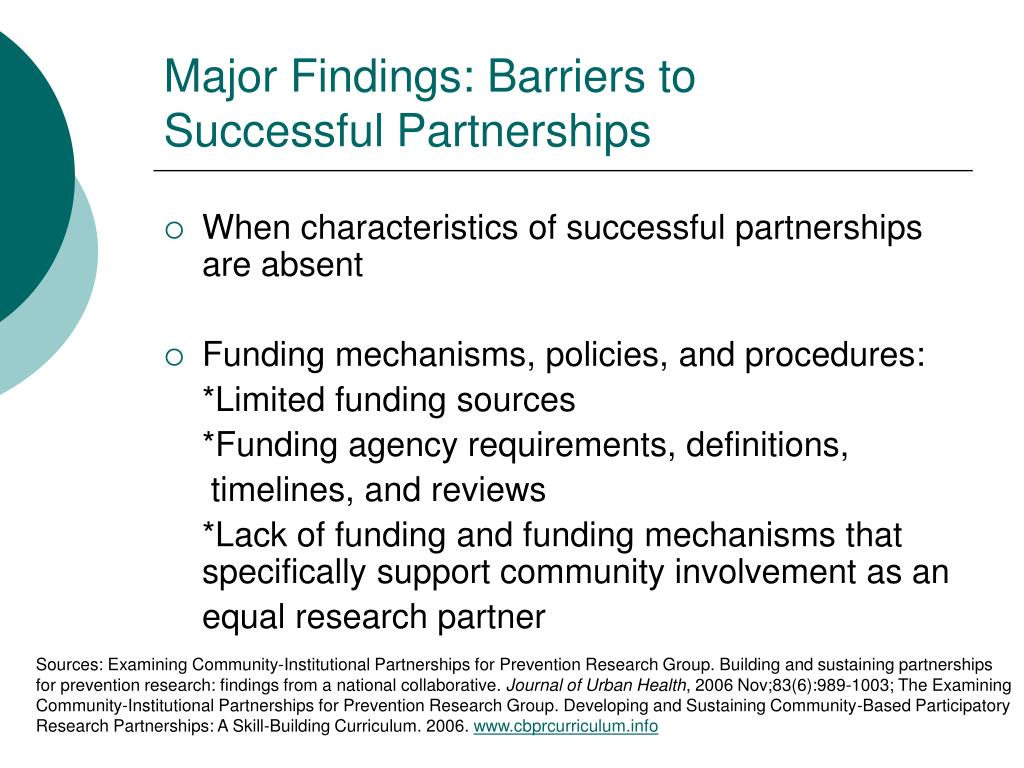 Major Findings: Barriers to