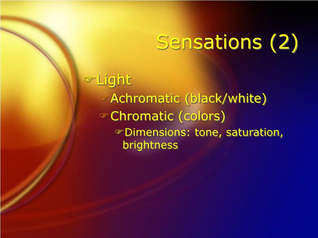 Sensations (2)