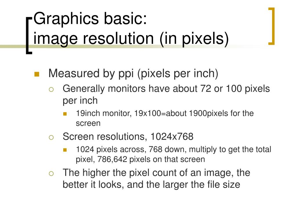 Graphics basic: