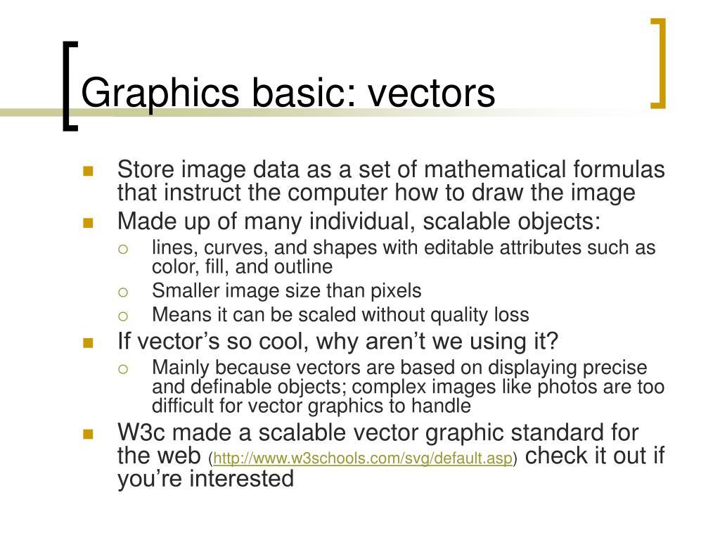 Graphics basic: vectors