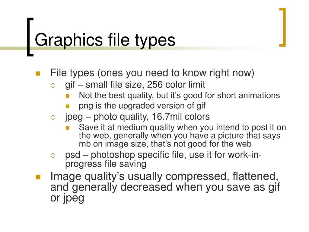 Graphics file types