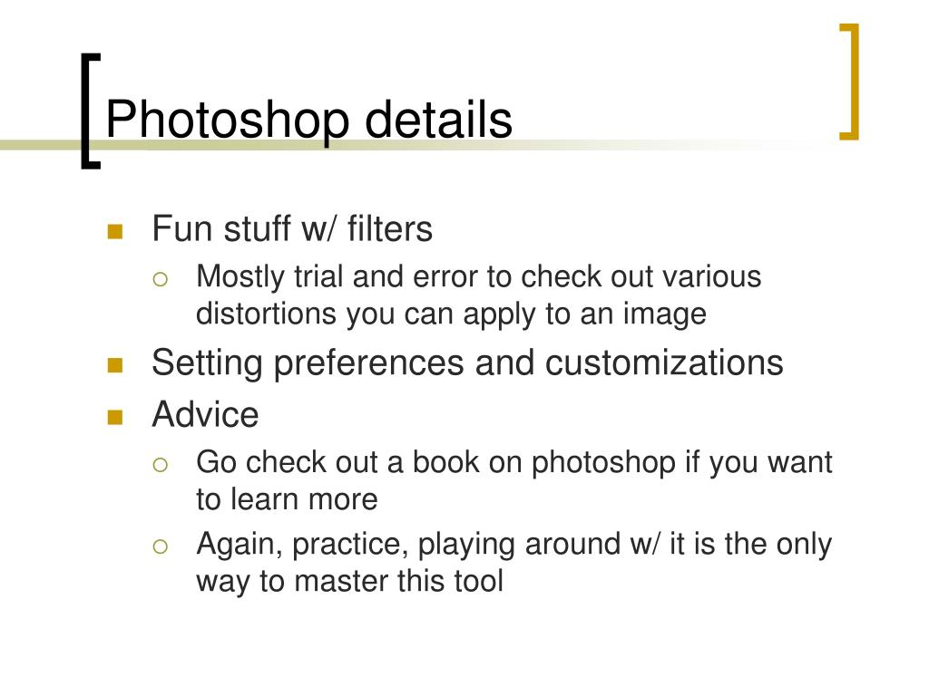 Photoshop details
