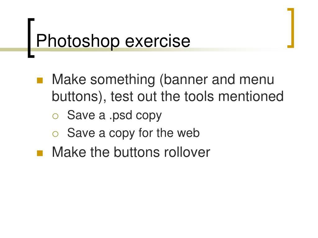 Photoshop exercise