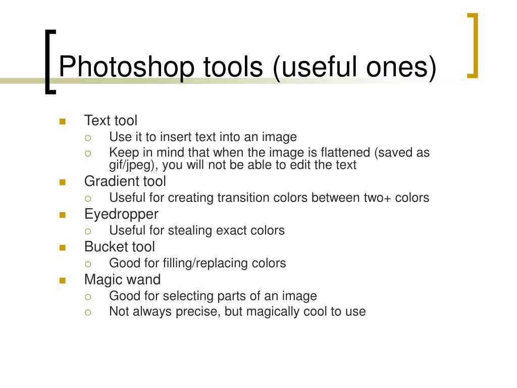 Photoshop tools (useful ones)