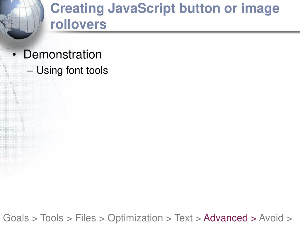 Creating JavaScript button or image rollovers