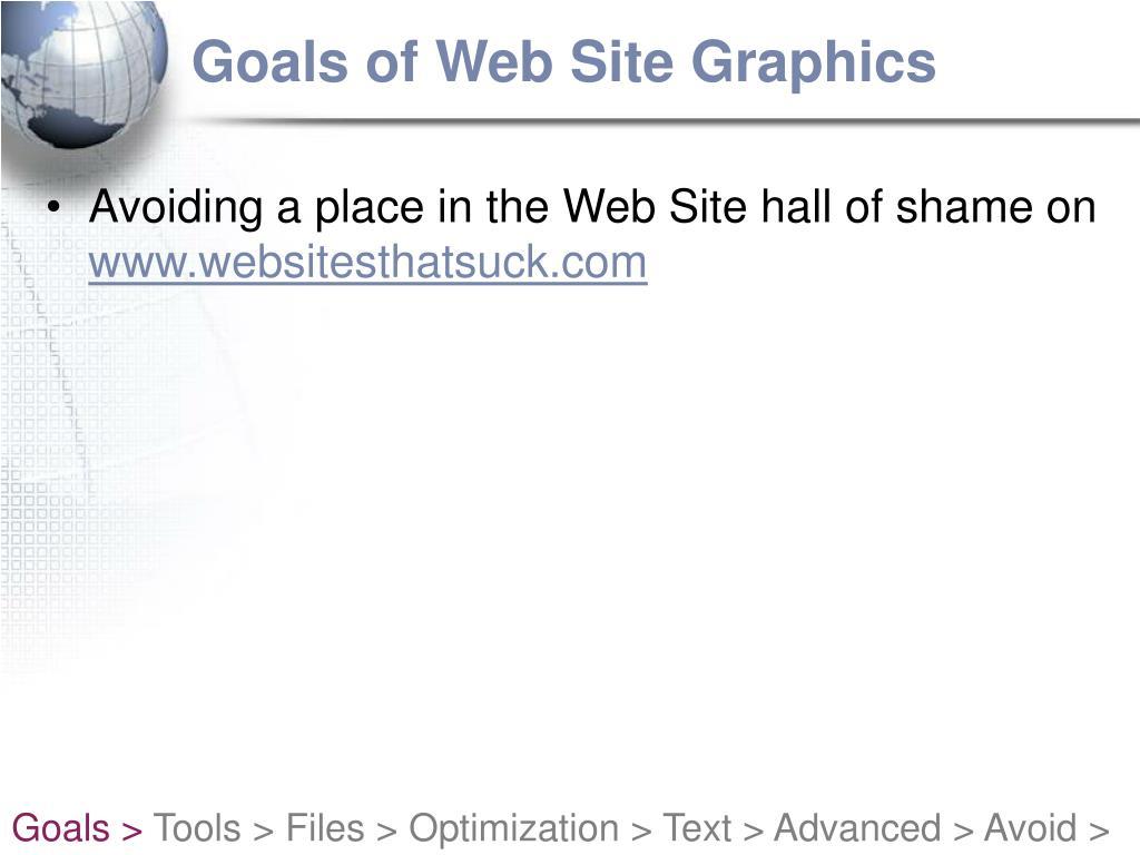 Goals of Web Site Graphics
