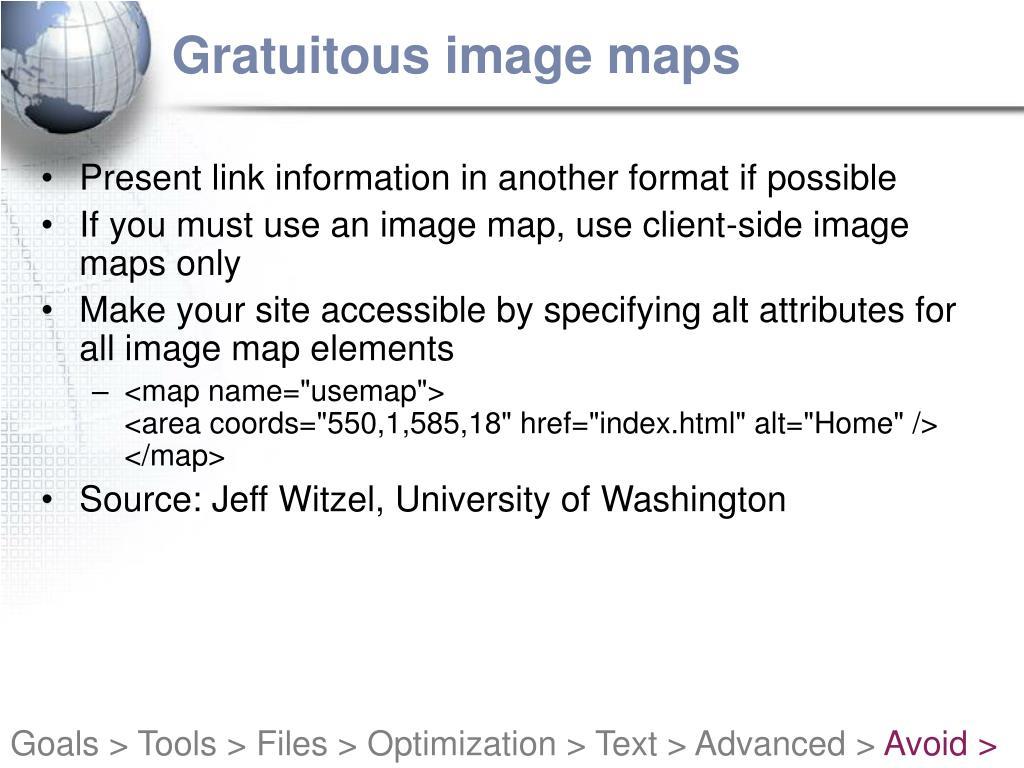 Gratuitous image maps