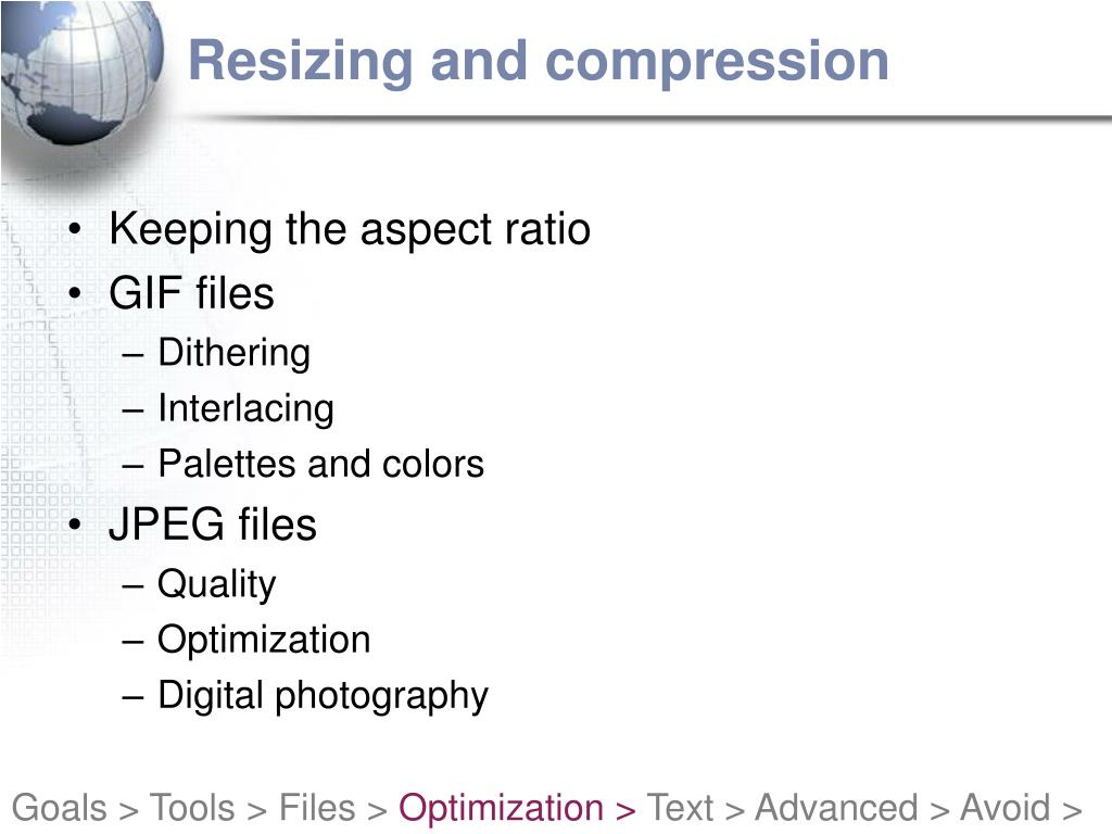 Resizing and compression