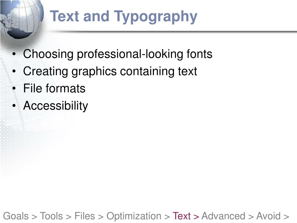 Text and Typography