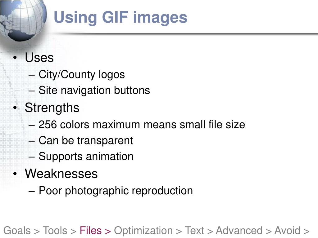 Using GIF images