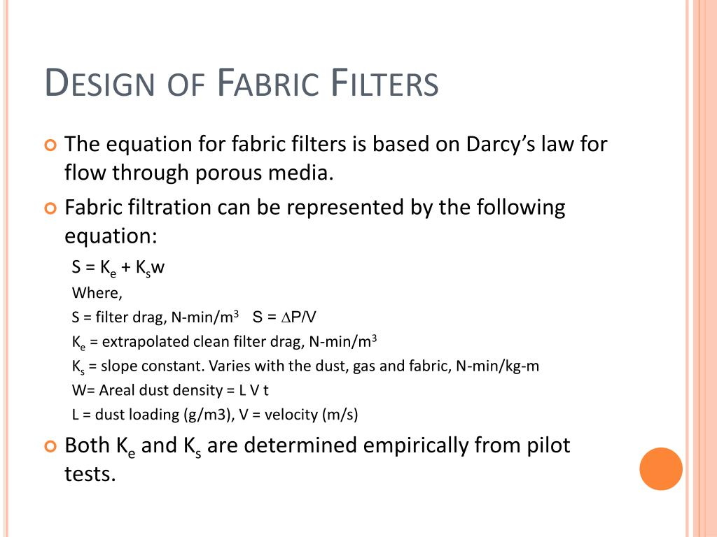 Design of Fabric Filters