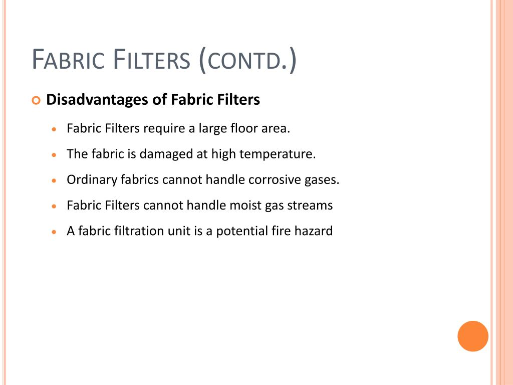 Fabric Filters (contd.)