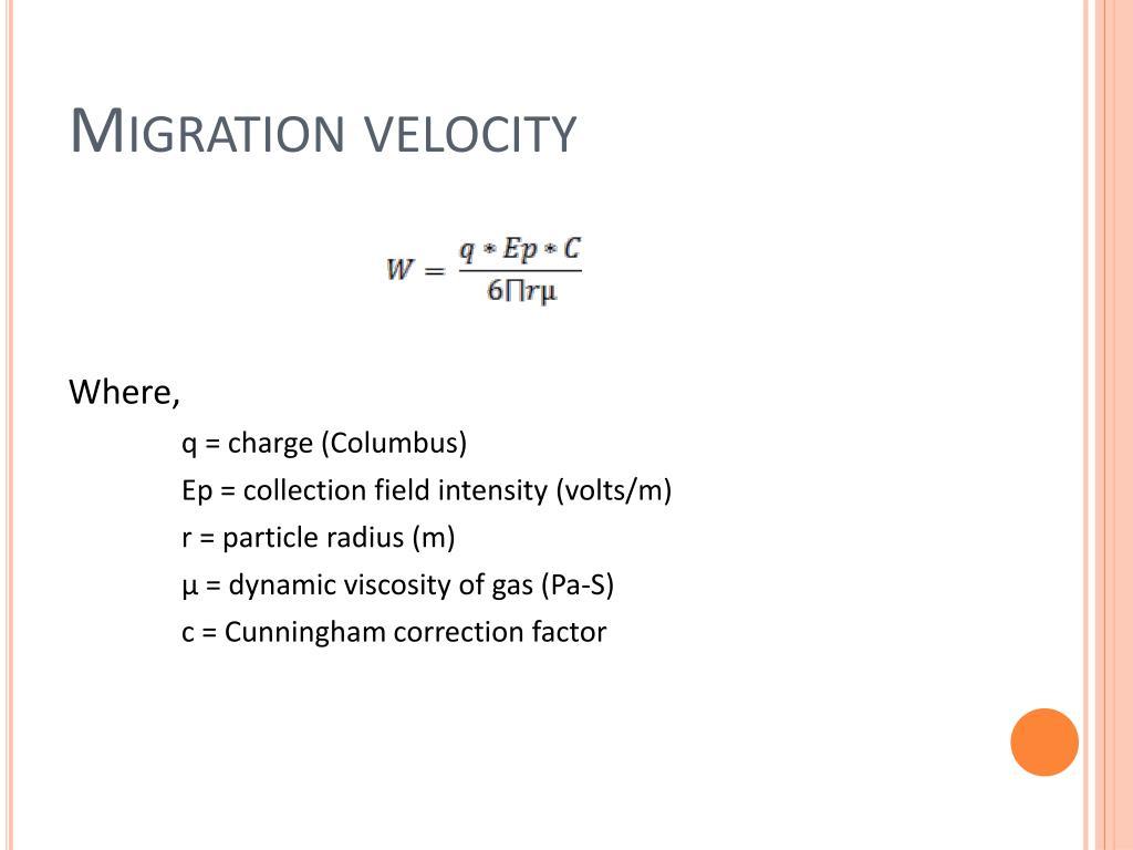 Migration velocity