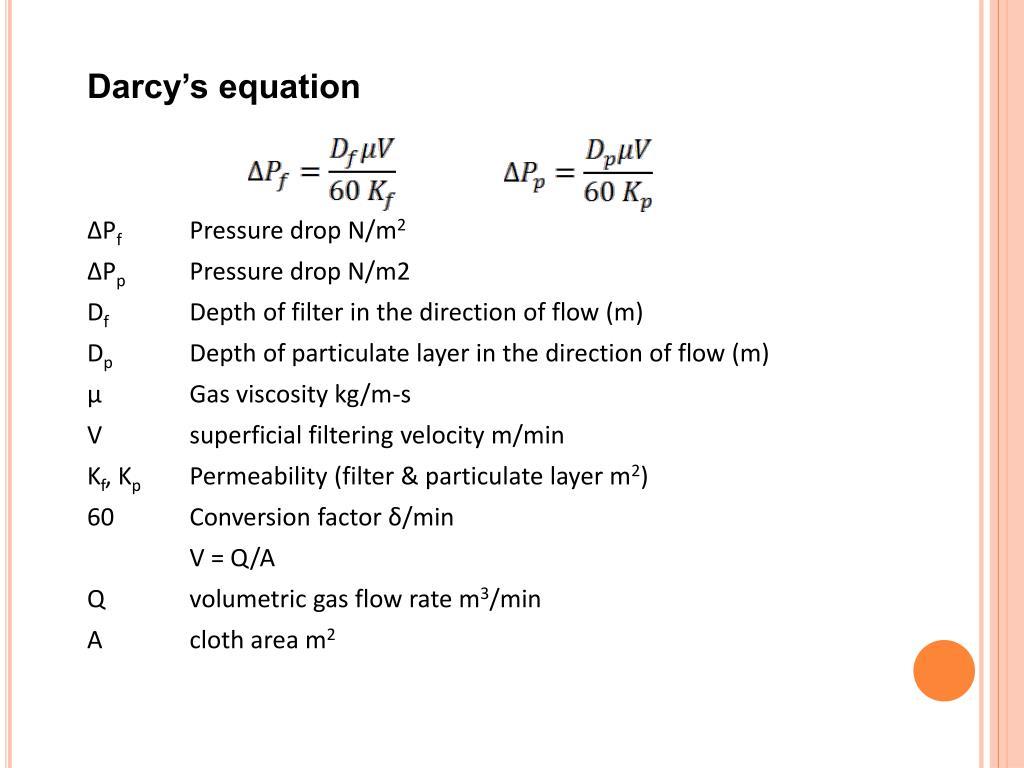 Darcy's equation