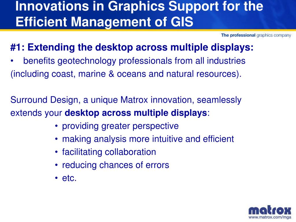 Innovations in Graphics Support for the Efficient Management of GIS