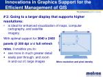 innovations in graphics support for the efficient management of gis8