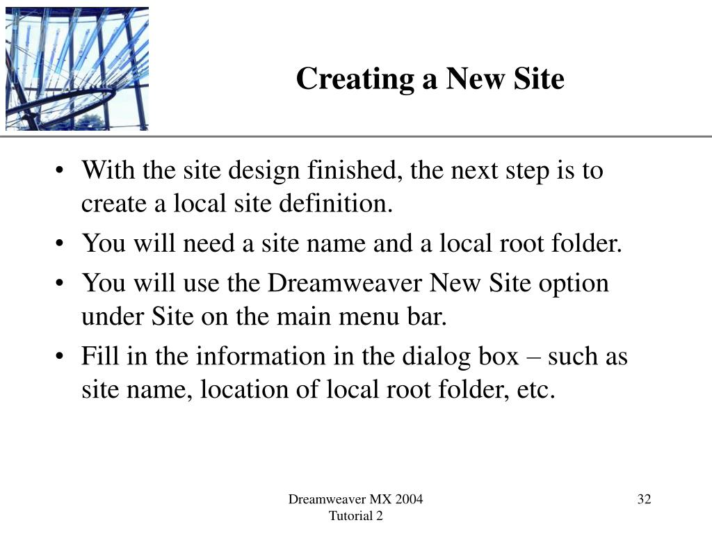 Creating a New Site