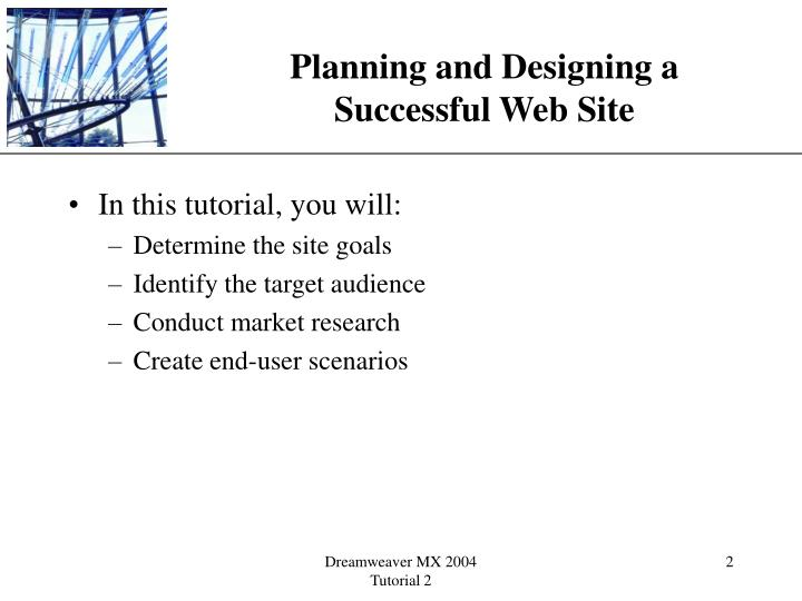 Planning and designing a successful web site