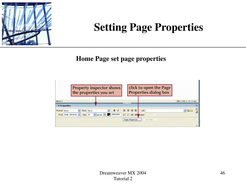 Setting Page Properties