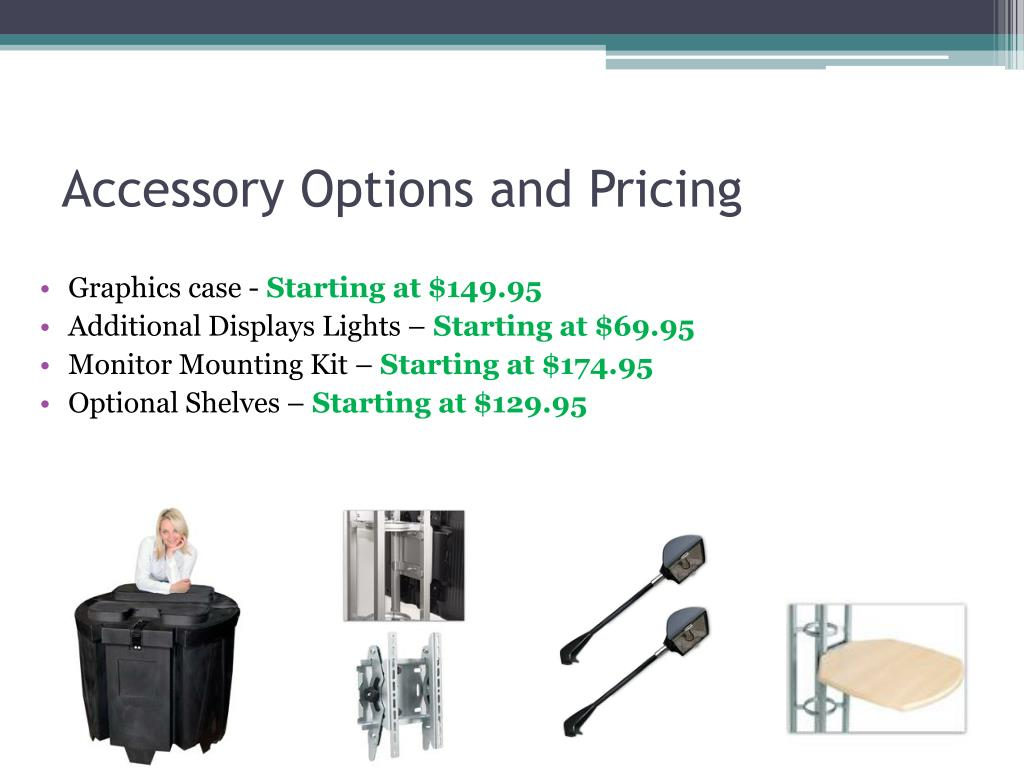 Accessory Options and Pricing