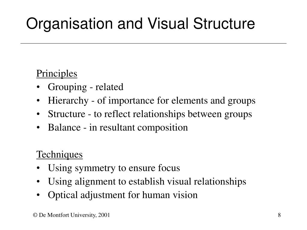 Organisation and Visual Structure