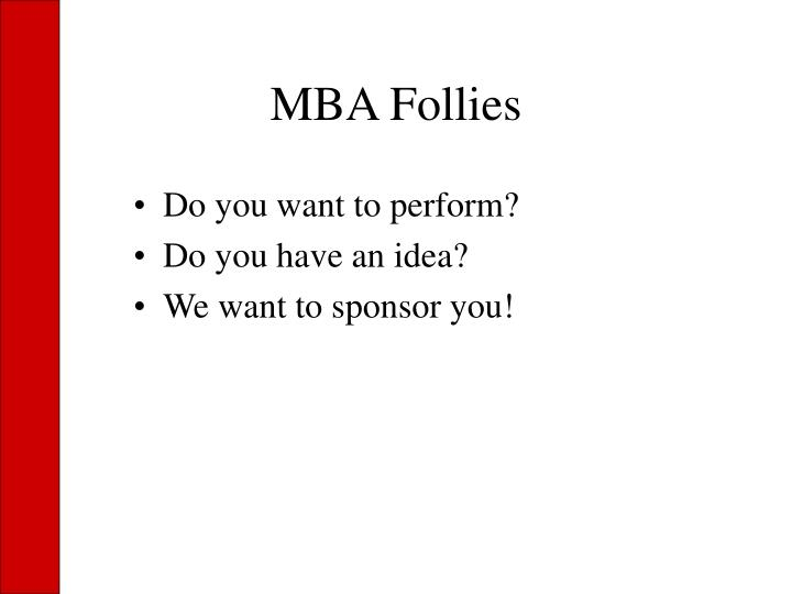 MBA Follies