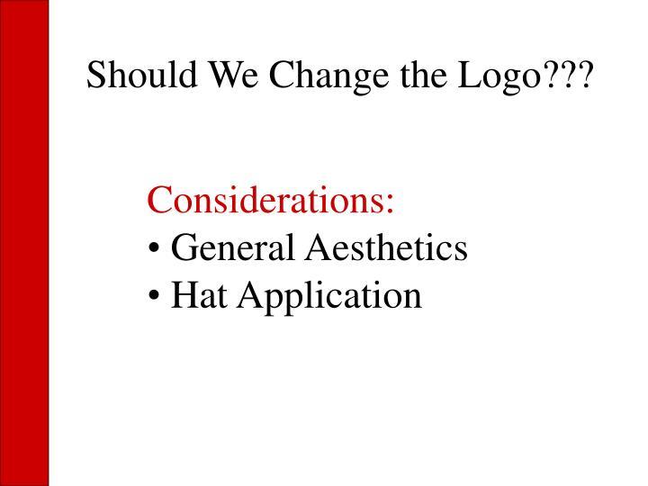 Should We Change the Logo???