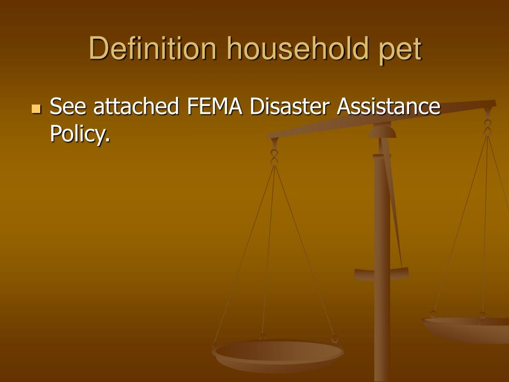 Definition household pet