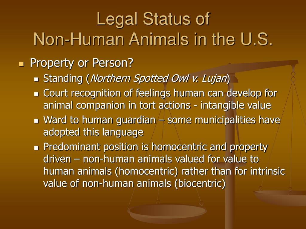 Legal Status of