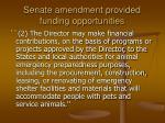 senate amendment provided funding opportunities