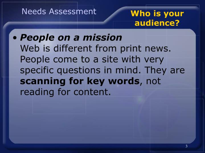 Who is your audience3