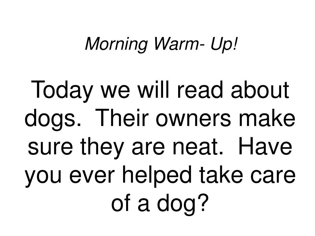 Morning Warm- Up!