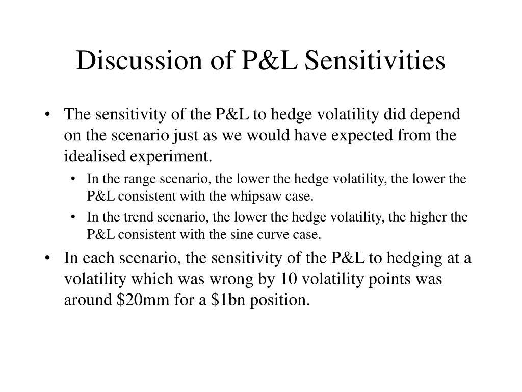 Discussion of P&L Sensitivities