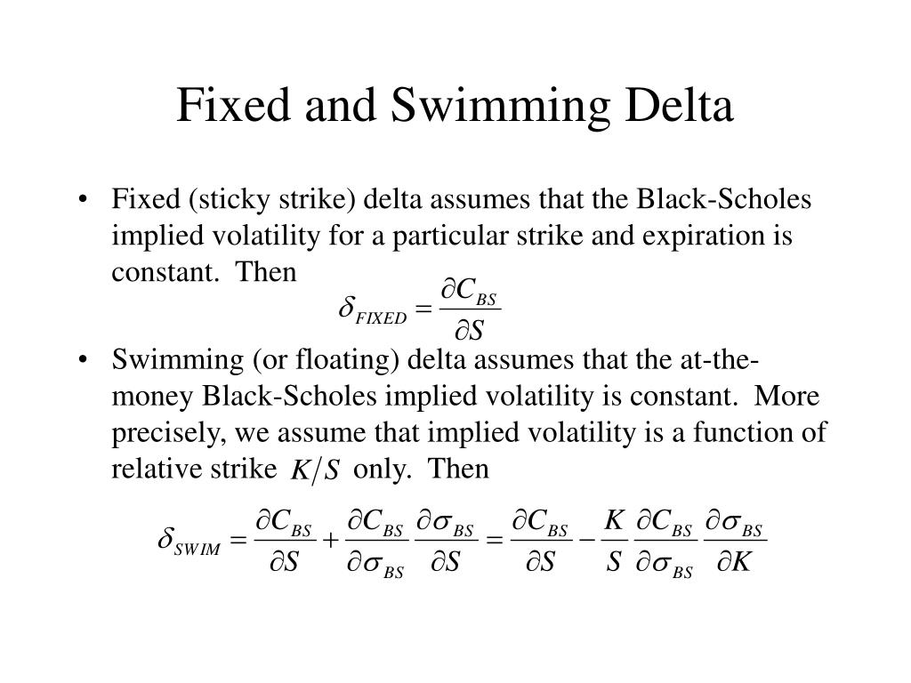 Fixed and Swimming Delta