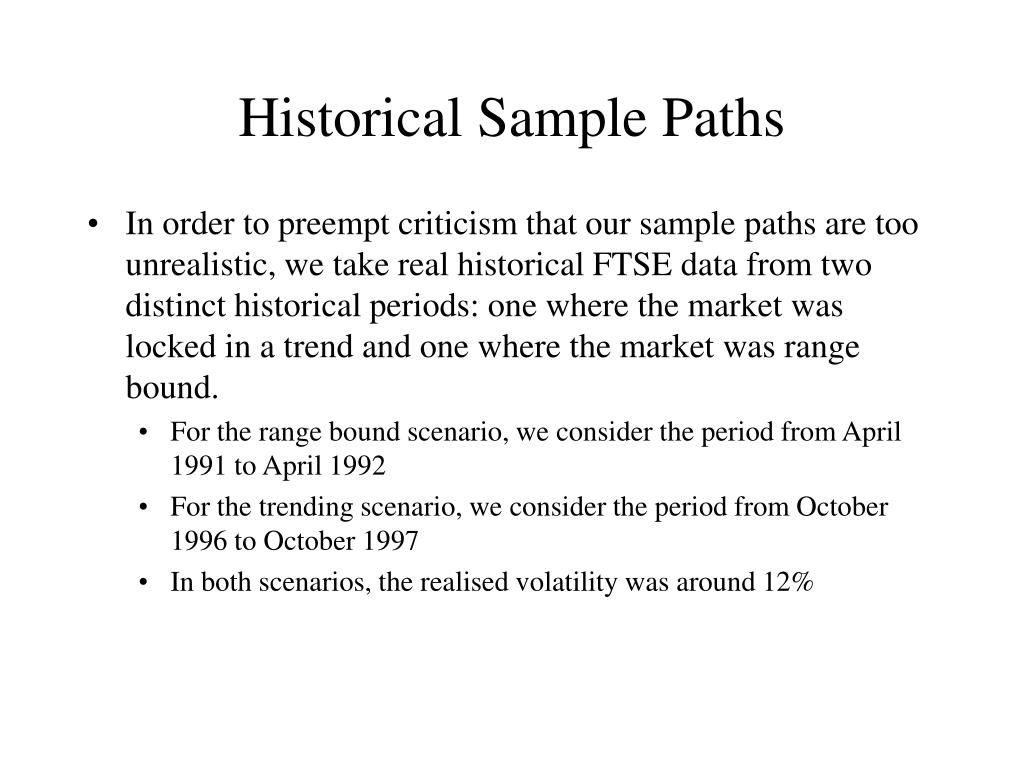 Historical Sample Paths