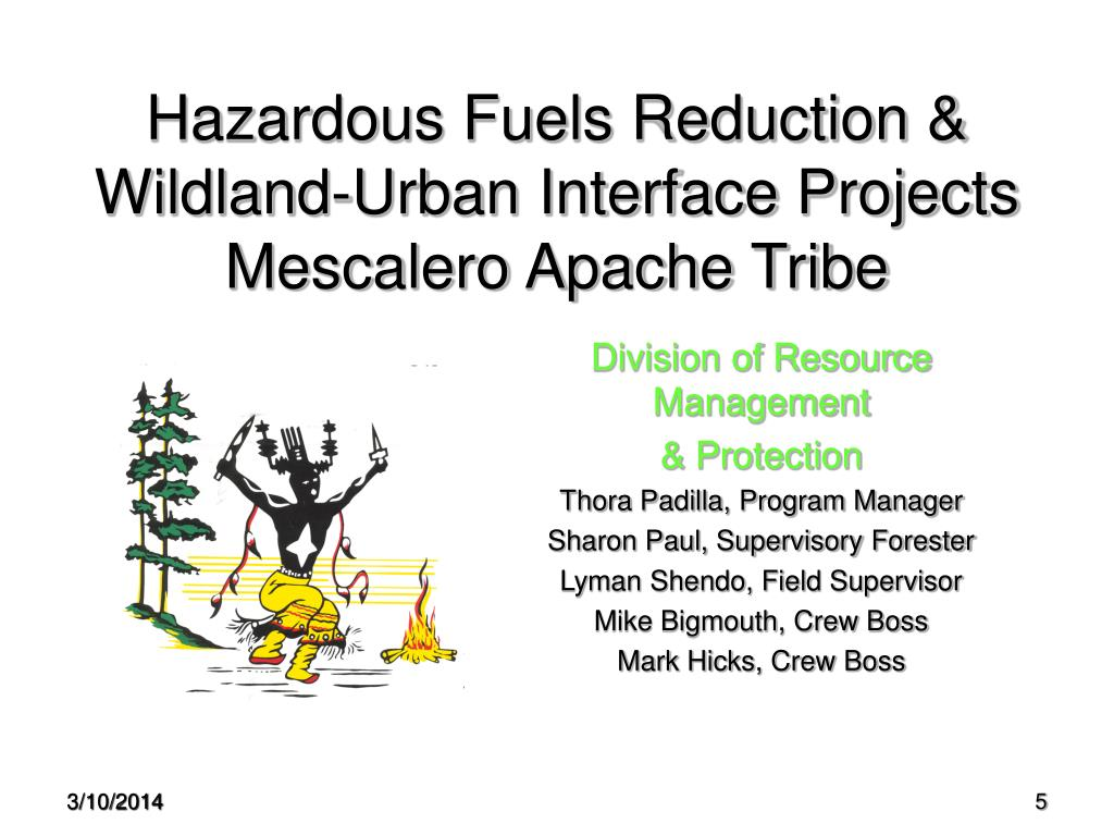 Hazardous Fuels Reduction & Wildland-Urban Interface Projects