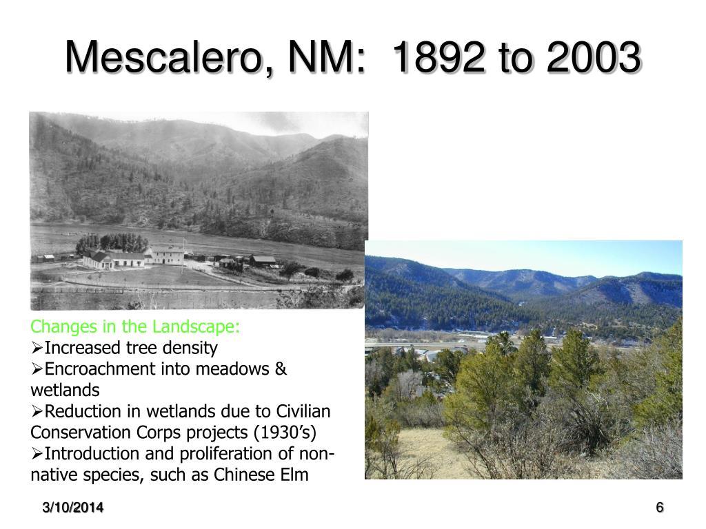Mescalero, NM:  1892 to 2003