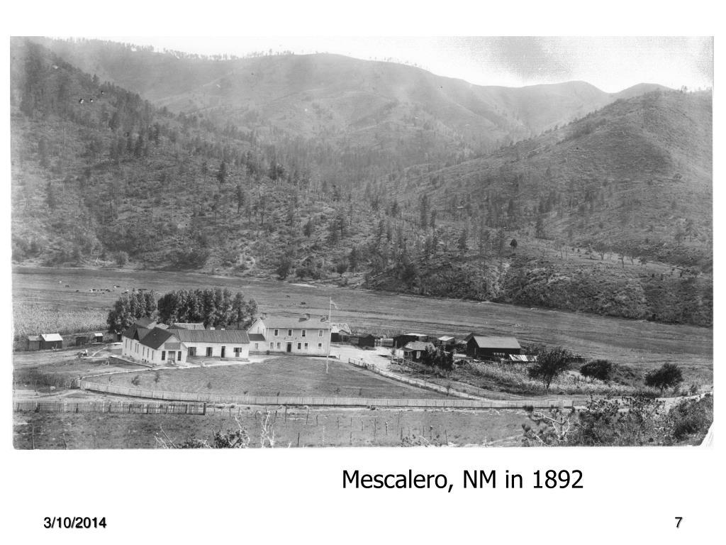 Mescalero, NM in 1892