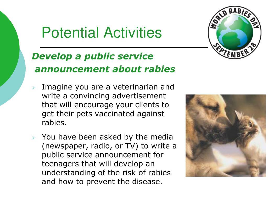 Potential Activities
