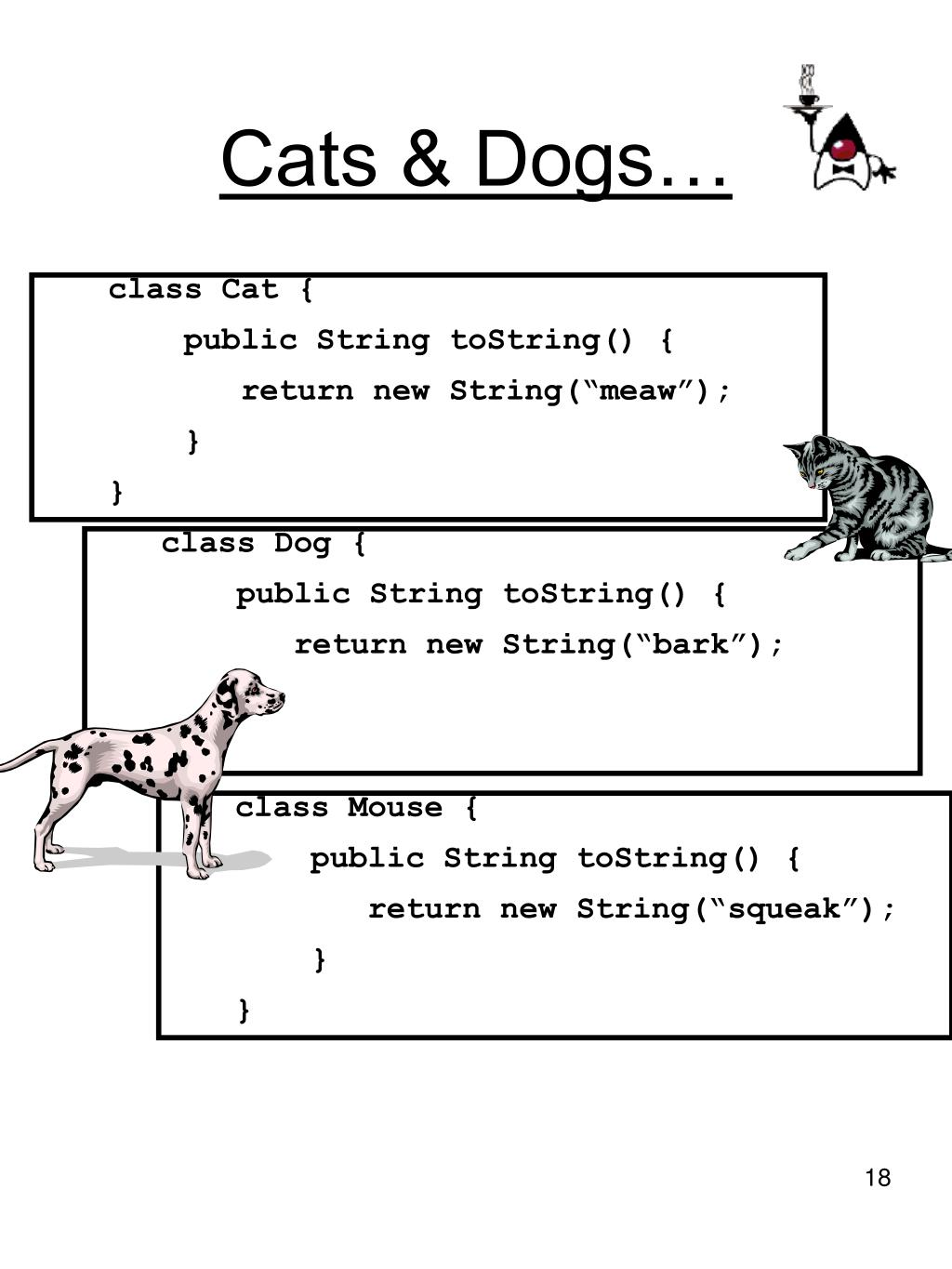 Cats & Dogs…