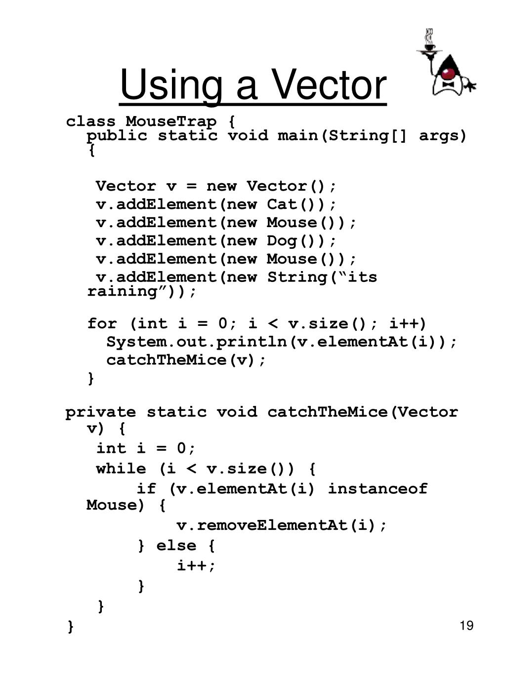Using a Vector