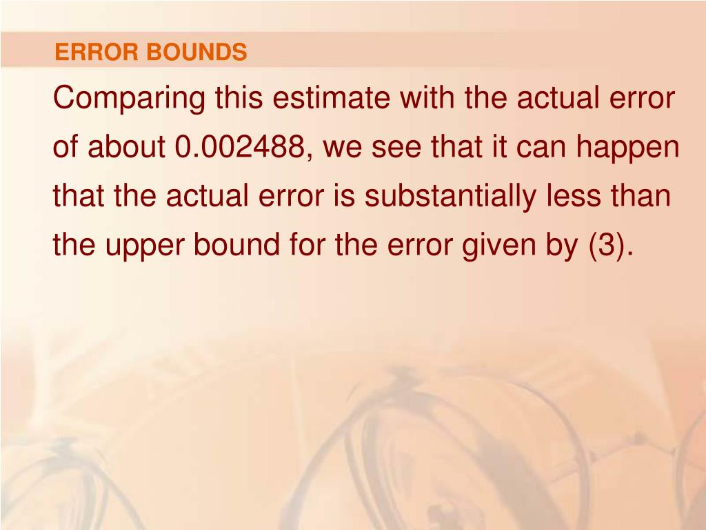 ERROR BOUNDS