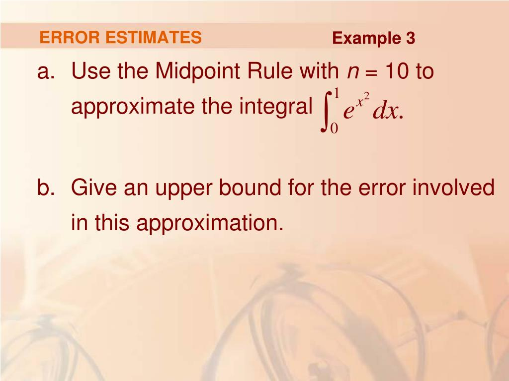 ERROR ESTIMATES