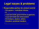 legal issues problems