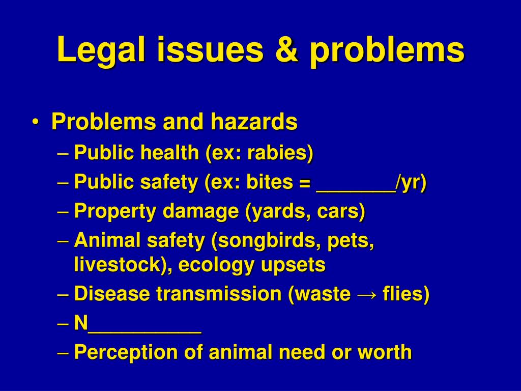 Legal issues & problems