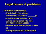 legal issues problems39