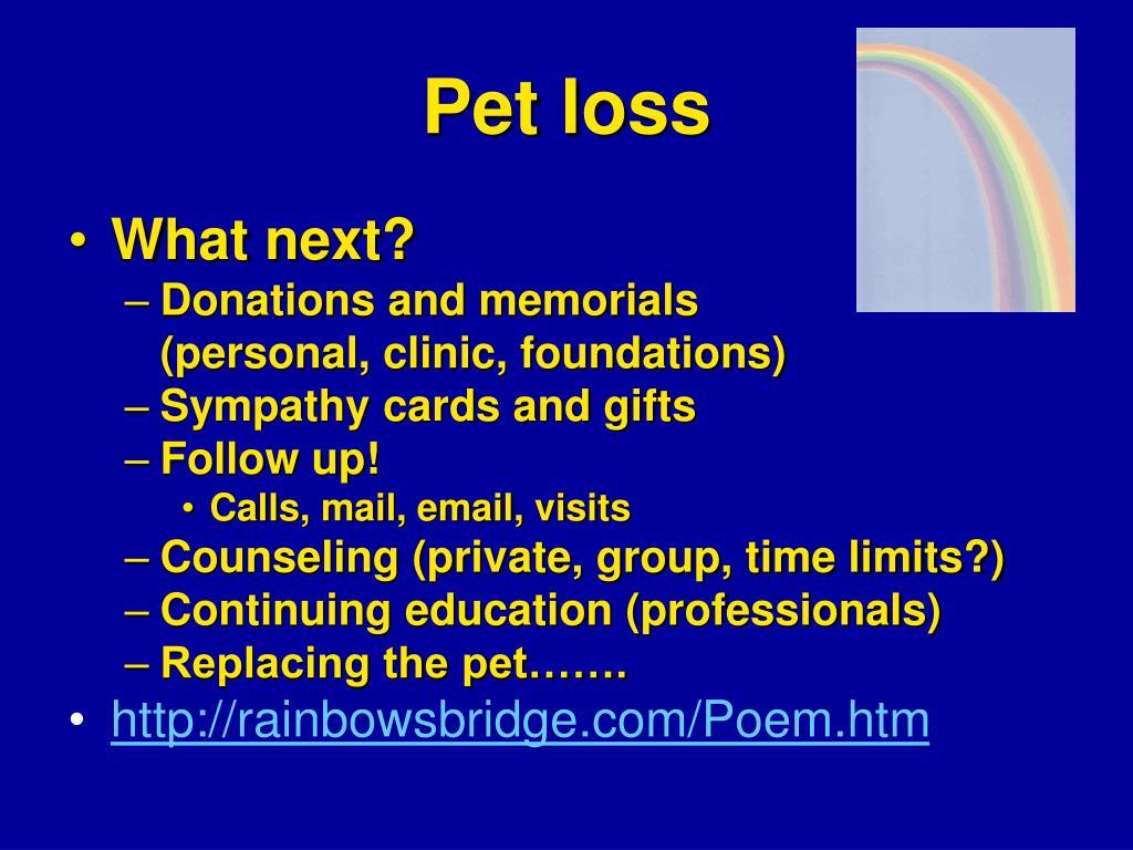 Pet loss