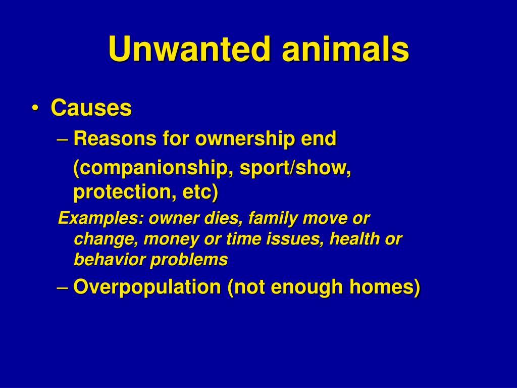 Unwanted animals